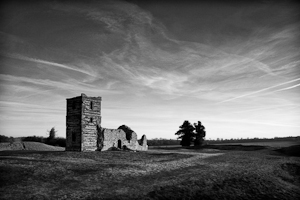 Knowlton Church (asp07-4858bw)