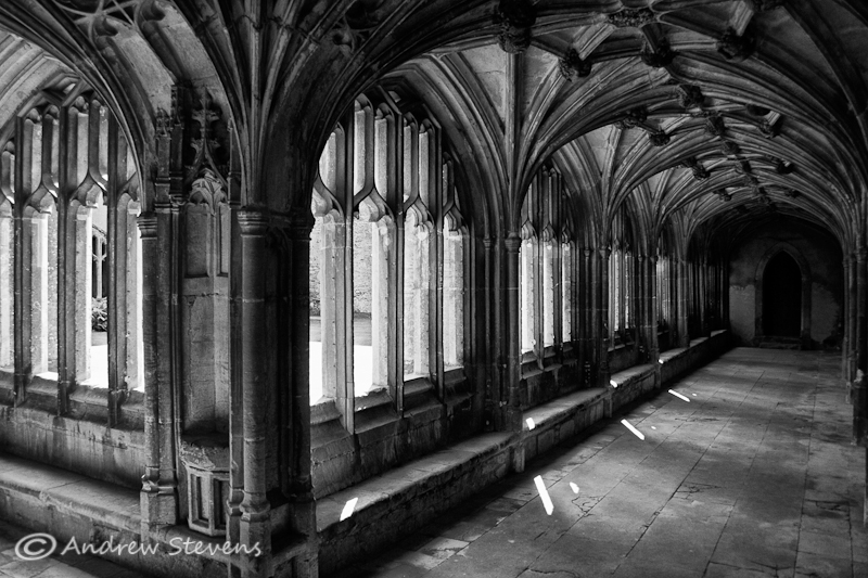 The Cloisters, Lacock Abbey (asp08-6277bw)