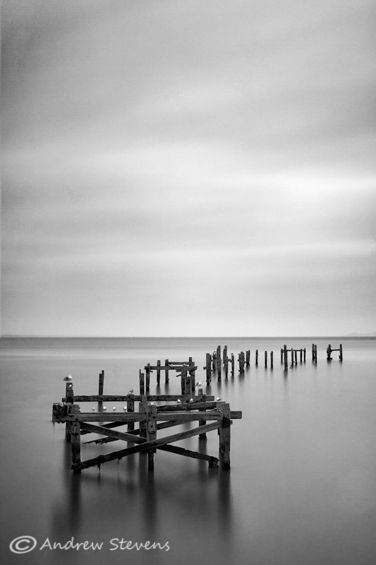 Swanage Old Pier B&W (asp100-2940)